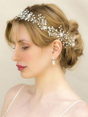 Hair Comes The Bride Bohemian Inspired Beaded Bridal Vine Headband