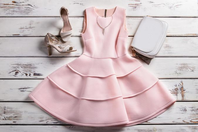 Dress with accessories