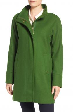 Ellen Tracy Wool Blend Stadium Coat