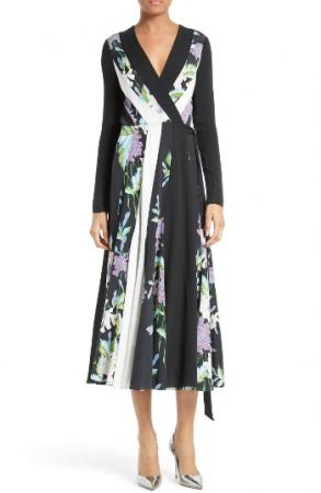 Penelope Fit & Flare Wrap Dress