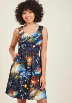 Heart and Solar System Dress from Modcloth