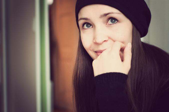 woman in black beret