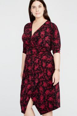 Printed Matte Tricot Dress