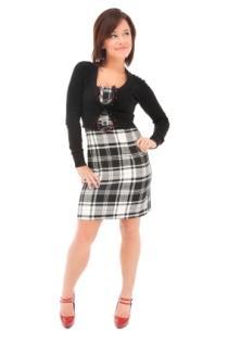 dress with shrug sweater