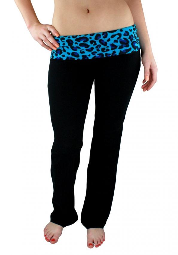 Zenana Fold Over Contrast Yoga Pants at Amazon.com