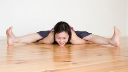 Wide-angled seated forward bend