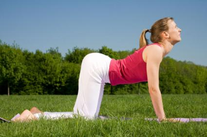 cow pose in yoga