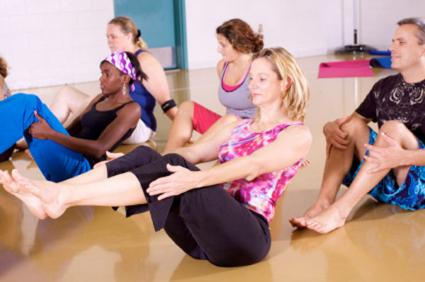 full yoga class