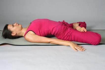 Resting in Goddess Pose