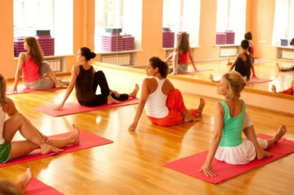 group yoga class