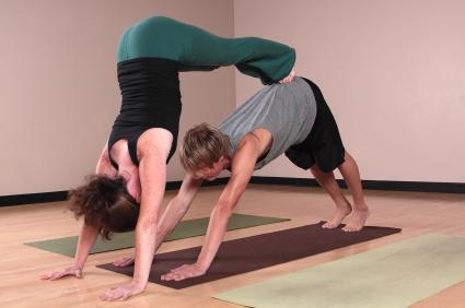 Partner Yoga Downward Facing Dog