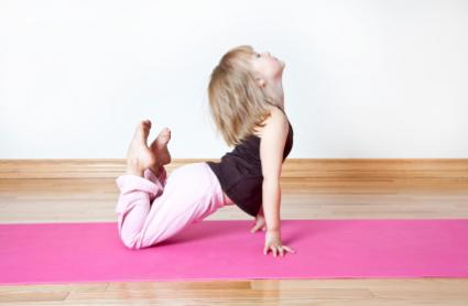 Girl doing yoga pose