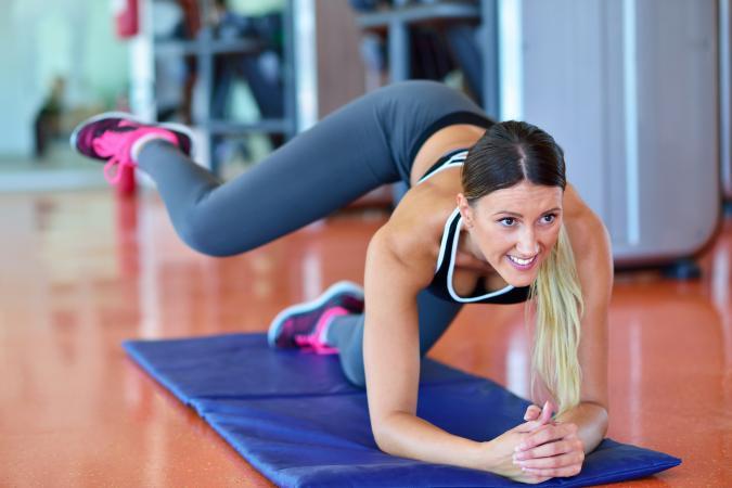 Linoleum Floor yoga workout