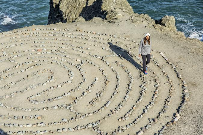 walking maze