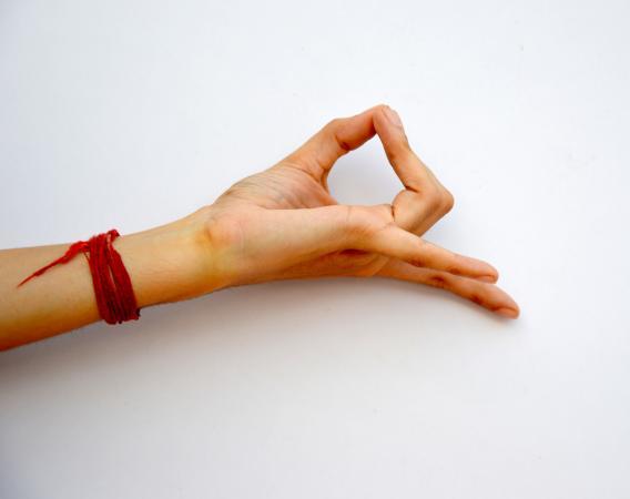 hand demonstrating mudra gesture