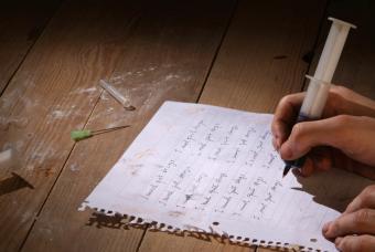 Addict writing