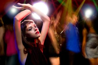 Intoxicated woman in a nightclub