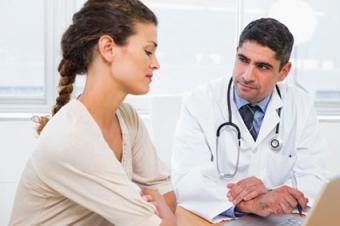 Doctor and patient in discussion
