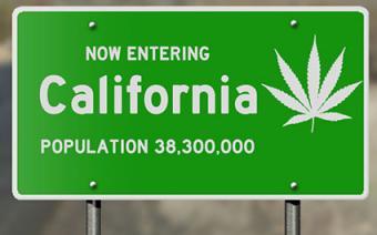 Now entering California sign