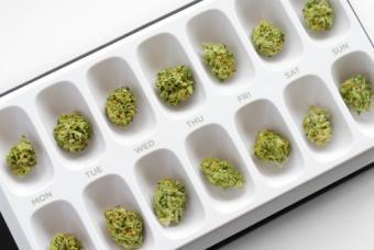 Marijuana in pill case