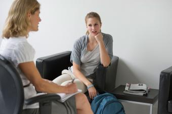Psychiatrist and patient in counseling session