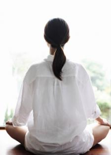 Woman doing meditation