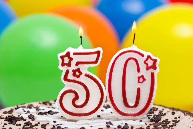 50 años pastel
