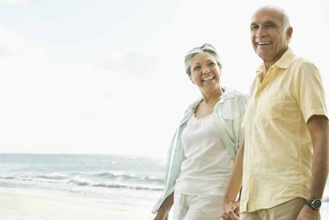 Adultos mayores cita romántica