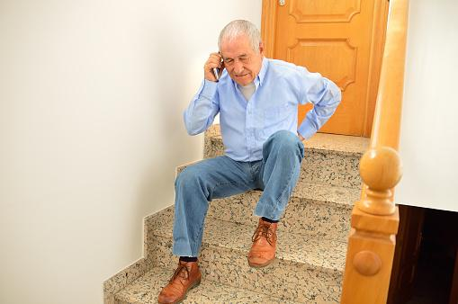 Adulto mayor caída