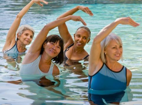 ejercicio a la piscina