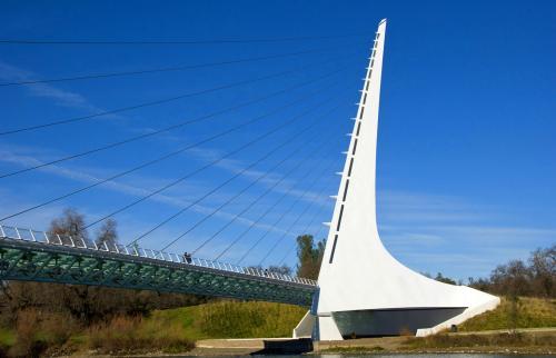Puente de Relojes de Sol Redding California