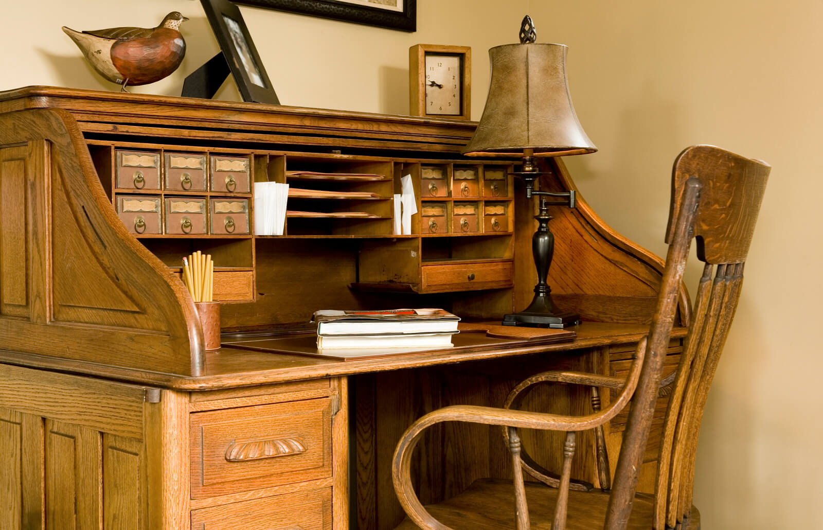 Antique Roll Top Desk Styles And Values Lovetoknow