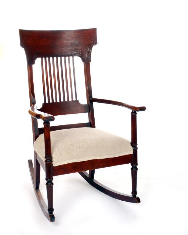 upholstered-rocker.jpg - Identifying Old Rocking Chairs LoveToKnow