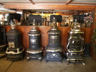 cylinder victorian parlor stove