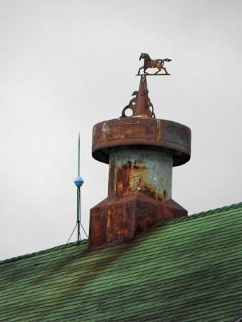 metal horse weathervane
