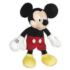 Vintage Mickey and Minnie Mouse Stuffed Toys