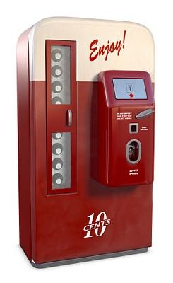 vintage soda machine