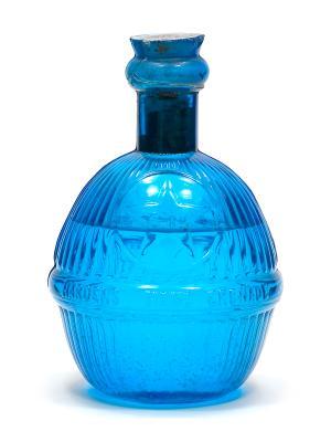 19th century blue fire grenade bottle