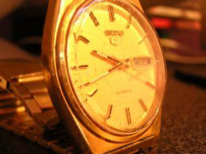 Photo of an old Seiko gold watch