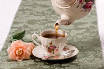 tea set in use