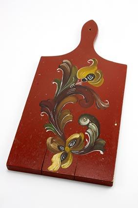 Red Painted Bread Board