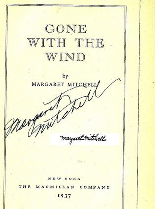 Signed Gone With the Wind