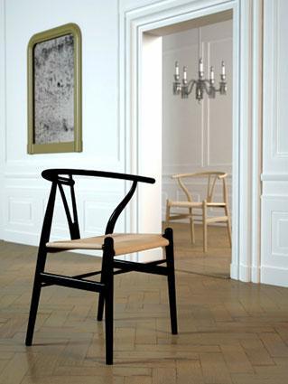 Example of Wishbone chair design