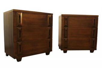 Mid century danish modern bachelor chests