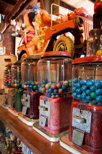 Antique Bubble Gum Machines
