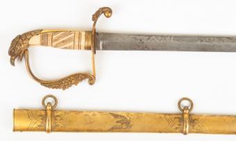American Federal Period War Of 1812 Eagle-head Sword