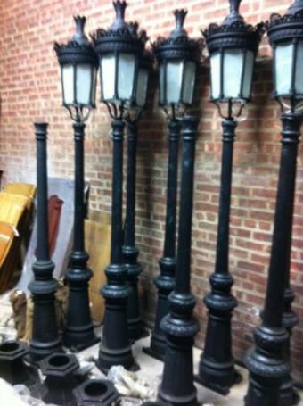 Single light Victorian Cast Iron Outdoor Street Lamp