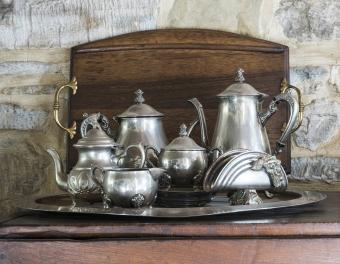 antique tea service
