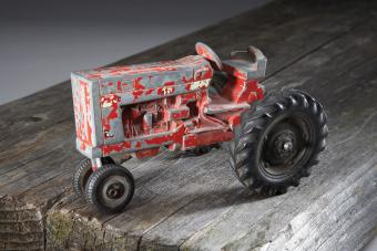 toy tractor with condition issues