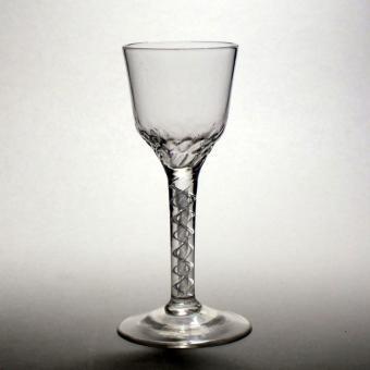Air twist wine glass